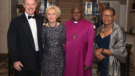 Dinner at Bowcliffe Hall in aid of the Archbishop of York's Youth Trust.Tom Hunnings, Mary Berry, T