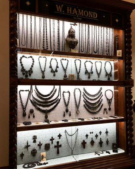 At Albert's Eatery you can dine while being surrounded by beautiful Whitby Jet jewellery