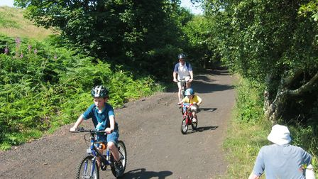 Cinder tracks are perfect for family cycling