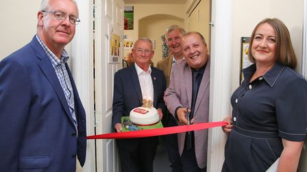 Mark Robson from Hambleton District Council, Ian Ashton from World of James Herriot, Peter Wright of