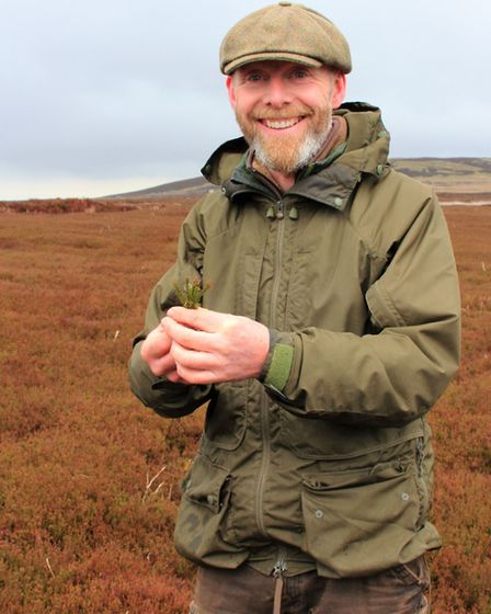 Roy Burrows is proud of the heather restoration on the grouse moor