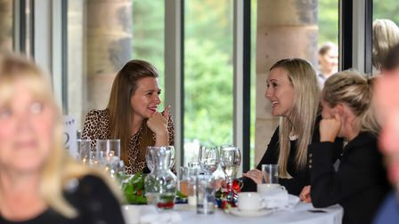 Dessert certainly left a smile on the faces of, Emma Waring, Karina Windle and Victoria Pym