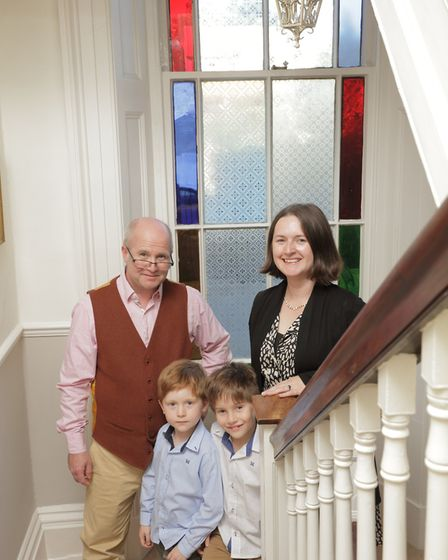 Pascal Watkins and family Cawthorne House
