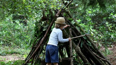 Den building at Northwood Fairy Trail