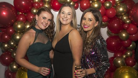 Lucy Brown, Chloe Cross, Amelia Shinners Sky betting and gaming charity ball 2019 in aid of Yorksh