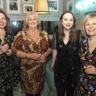 Keeley Kendall, Jane Kettlewell, Amy & Liz Guest Mayor of Harrogate's dinner at Gino di Campo res