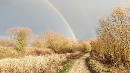 Who knows whats at the end of the rainbow on a ramble through the wetlands of Yorkshire?