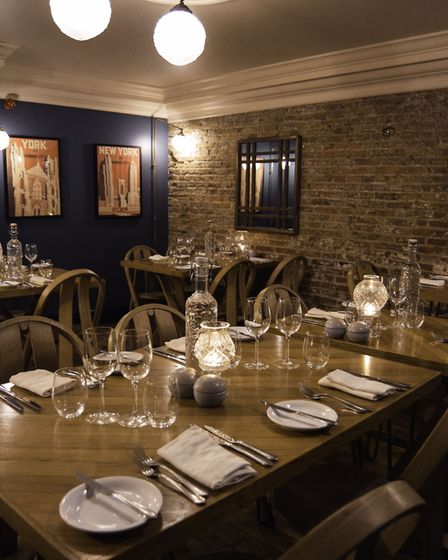 Dining in the historic and characterful building