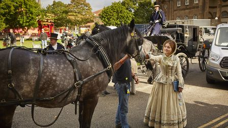 Jenna Coleman starred as Queen Victoria in the series filmed across Yorkshire (c) Justin Slee
