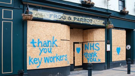 Tim Dennell - Closed pub thanks NHS and key workers.