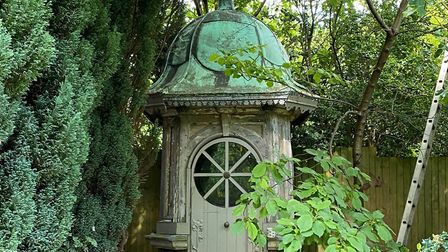 Stephen's clocktower 'man cave' with a difference in his York garden