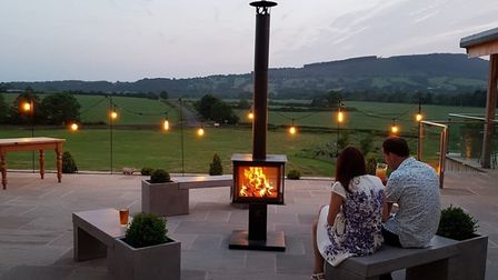 Enjoy a fireplace outside to keep you warm on summer evenings. Picture: Focus Fireplaces York