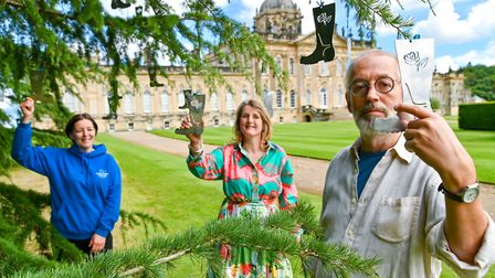 Kathryn Scott, chief executive of Yorkshire Cancer Research, Hon. Nicholas Howard, owner of Castle Howard & Anita...