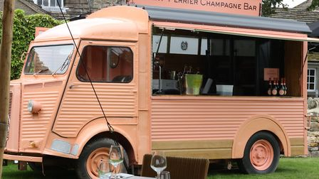Anyone for champers? The vintage Laurent Perrier van at The Devonshire Arms