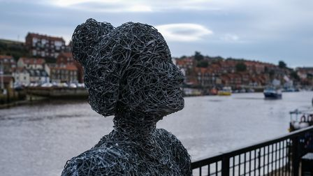 In situ: Emma's Fishwife sculpture is quite at home by the harbour in Whitby