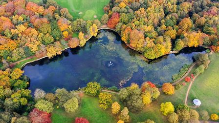 Aerial photo of Roundhay Park in Leeds