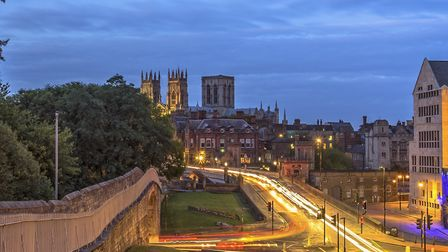 Walk the walls in York at night for an inspiring view of historic York Minster