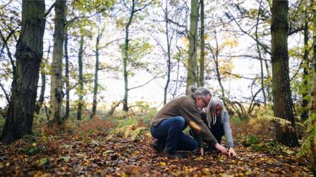 Chris and Rose Bax run foraging courses in the Yorkshire woodland and are experts in the subject (c) Chris Bax