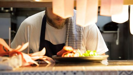Hard at work on the pass at Elsworth Kitchen