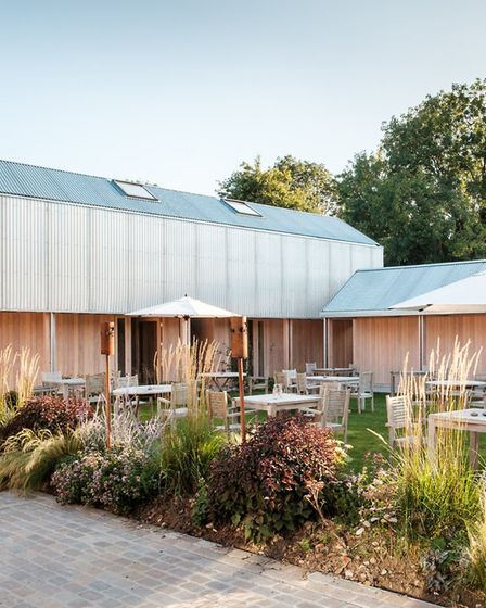 Agri-chic - the inn's contemporary facade is a grand design in a traditional village