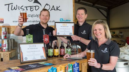 Twisted Oak won the award for the best cask British premium beer in the South West. Picture: Neil Ph