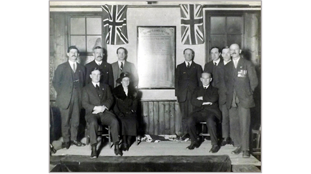 The unveiling of the memorial tablet