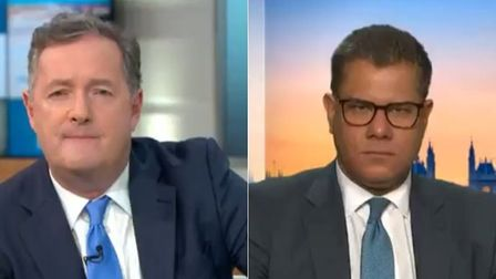 Picture of Piers Morgan and Alok Sharma on GMB