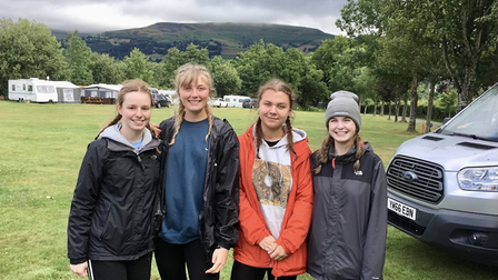 l-r Catherine Tolley, Katie Bea Robinson, Lilly Keeley Watts, Amber Dinham
