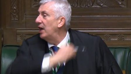 Lindsay Hoyle cuts off the prime minister's answer at PMQs