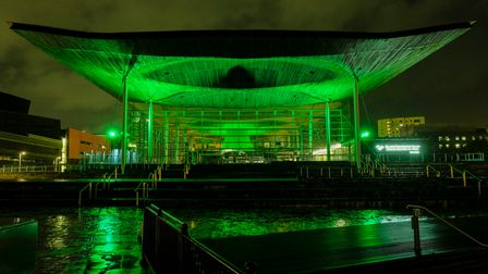 EDITORIAL USE ONLY The Senedd, home to the National Assembly for Wales in Cardiff joins Tourism Irel