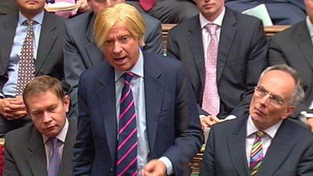 Michael Fabricant MP for Lichfield, speaks during Prime Minister's Questions in the House of Commons