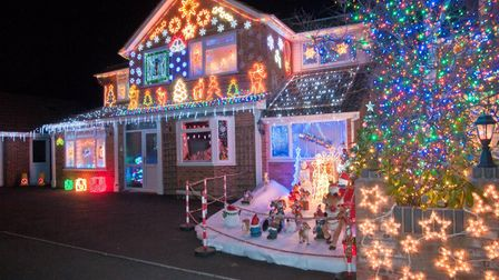 Houses decorated with Christmas lights at Trinity Close, Burnham on Sea. Picture: MARK ATHERTO