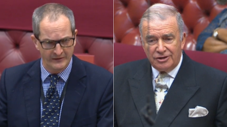 Government minister Lord Bethell and Labour peer Lord West in the House of Lords