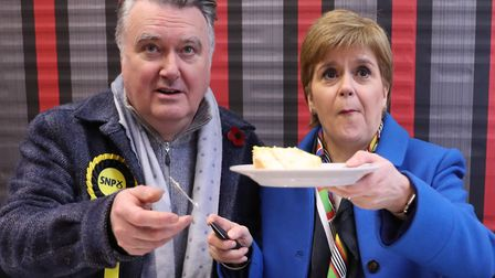 Ochil & South Perthshire candidate John Nicolson, seen here campaigning with Nicola Sturgeon, forgot