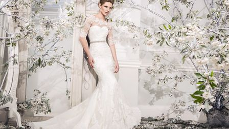 4. The Ellis Blossom Collection 2014 includes this lace fishtail dress with tulle train and embellis