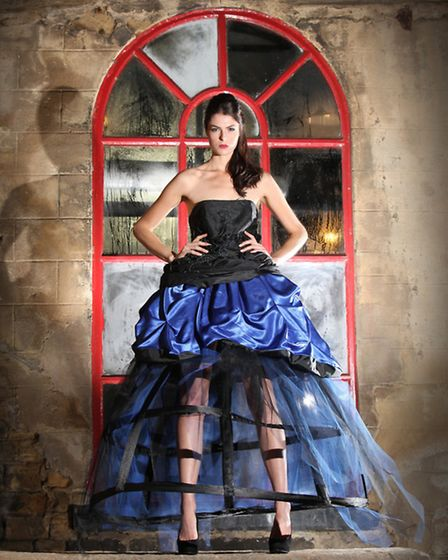 Fireworks inspired evening dress created by Kristina Hagyard, A Level fashion student at Northallert