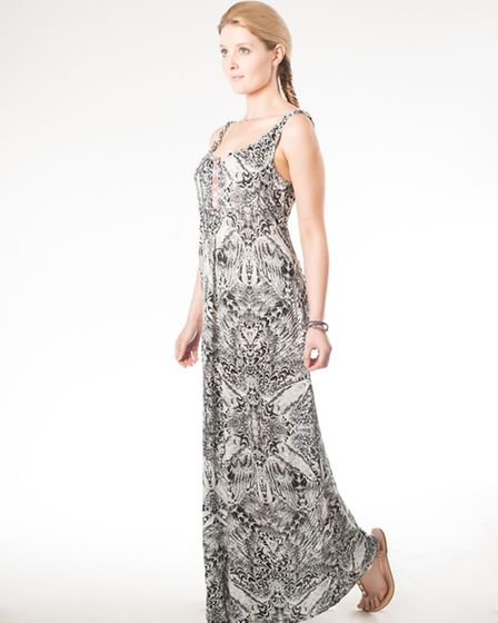 An easy to wear maxi dress from Danish label Culture. Team with brightly coloured flip flops or wedg