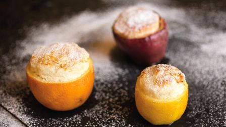 Apple, orange and lemon soufflés