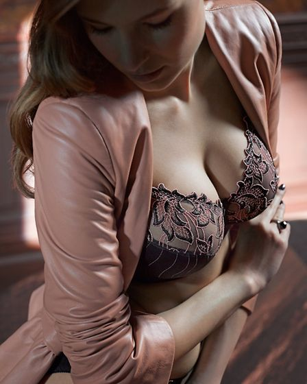 The PrimaDonna Moon Rock Deauville beautiful brown with pink highlights on the lace, £78; matching b