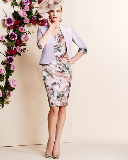 Dress and jacket in pretty pastels by Veni Infantino at Ronald Joyce, £639 at Snooty Frox