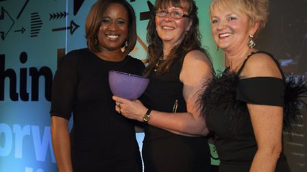 Charlene White, Anne Wilson MD of Numill, Sheffield and Business Woman of the Year, Debra White