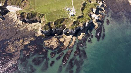 The 400ft chalk cliffs of Flamborough and Bempton are a big draw for seabirds and visitors alike Pho
