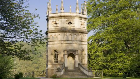 The pinnacled Octagon Tower on the valley side at Studley Royal Water Gardens. © Andrew Butler