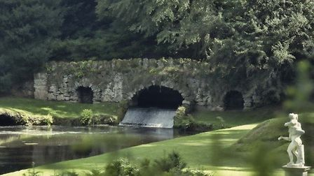 Bridge at Studley Royal by Harry Feather