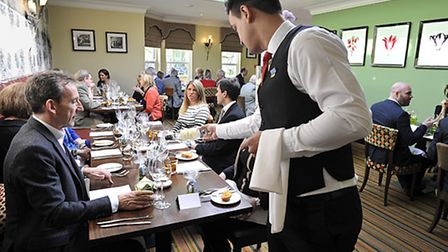 Guests at the Yorkshire Life Lunch. Wentbridge House Hotel, Wentbridge.