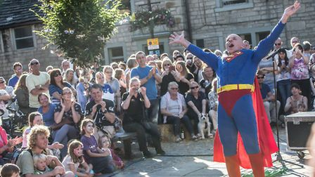Superman was among the star turns at last years Arts Festival. What do you mean its not really him?