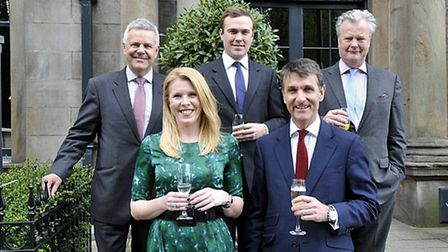 Representing Knight Frank, from left, Tim Waring, Lindsey Thomas,George Dennis, David Peters, Nick v