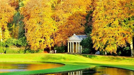Bathed In A Golden Glow, Fountains Abbey by Janet Danks