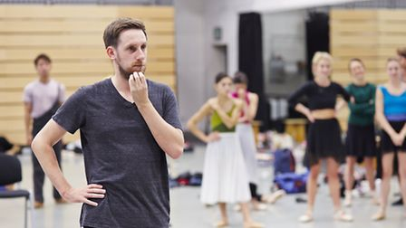 Jonathan Watkins in rehearsal for Northern Ballet's adaptation of Orwell's1984