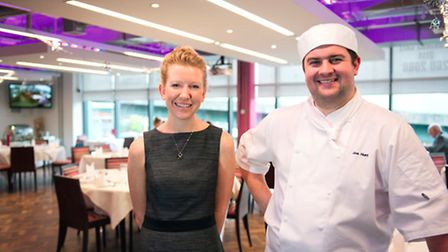 Shelley Kirk, restaurant trainer with production chef Joseph Hunt